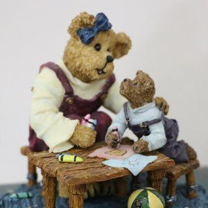 Boyds Bear Accents - Boyds Bear Momma with Taylor ..Quality Time 1st Ed